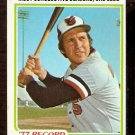 BALTIMORE ORIOLES BROOKS ROBINSON RECORD BREAKER 1978 TOPPS # 4 VG+