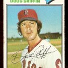 BOSTON RED SOX DOUG GRIFFIN 1977 TOPPS # 191 G/VG