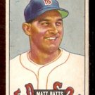 BOSTON RED SOX MATT BATTS 1951 BOWMAN # 129 VG+EX
