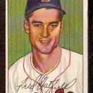 BOSTON RED SOX FRED HATFIELD 1952 BOWMAN # 153 VG/EX