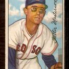 BOSTON RED SOX WALT MASTERSON 1952 BOWMAN # 205 VG/EX