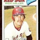 BOSTON RED SOX RICK MILLER 1977 TOPPS # 566 EX/EM