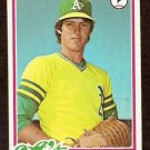 OAKLAND ATHLETICS BOB LACEY 1978 TOPPS # 29 EX
