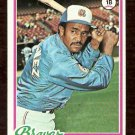 ATLANTA BRAVES WILLIE MONTANEZ 1978 TOPPS # 38 VG