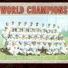 WORLD CHAMPIONS NEW YORK METS 1970 TOPPS # 1 good