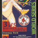 BOSTON RED SOX FENWAY PARK 1999 WORLD SERIES FULL TICKET