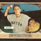 BOSTON RED SOX SAMMY WHITE 1955 BOWMAN # 47 VG+