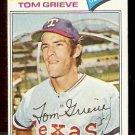 TEXAS RANGERS TOM GRIEVE 1977 TOPPS # 403 ex