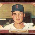 BOSTON RED SOX GEORGE SUSCE 1955 BOWMAN # 320 VG/EX
