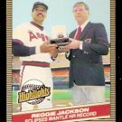 NEW YORK YANKEES MICKEY MANTLE CALIFORNIA ANGELS REGGIE JACKSON 1986 DONRUSS HIGHLIGHTS # 10