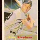 BOSTON RED SOX GENE STEPHENS 1957 TOPPS # 217 EX/EM