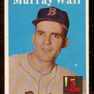 BOSTON RED SOX MURRAY WALL 1958 TOPPS # 410 EX+/EM