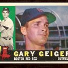 BOSTON RED SOX GARY GEIGER 1960 TOPPS # 184 EX