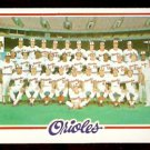 BALTIMORE ORIOLES TEAM CARD 1978 TOPPS # 96 EX/NM marked checklist