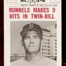 BOSTON RED SOX PETE RUNNELS 1961 BASEBALL SCOOPS # 407 NR MT
