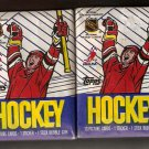 2 UNOPENED PACKS 1989-90 TOPPS HOCKEY SAKIC LEETCH ROOKIE CARDS