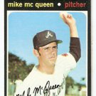 ATLANTA BRAVES MIKE Mc QUEEN 1971 TOPPS # 8 VG/EX