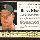 BOSTON RED SOX RUSS NIXON 1961 POST CEREAL # 51