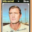 KANSAS CITY ROYALS BILLY SORRELL 1971 TOPPS # 17 good
