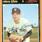 NEW YORK YANKEES STEVE KLINE 1971 TOPPS # 51 good