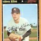 NEW YORK YANKEES STEVE KLINE 1971 TOPPS # 51 good