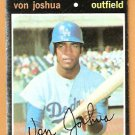 LOS ANGELES DODGERS VON JOSHUA 1971 TOPPS # 57 good