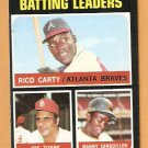 BATTING LEADERS ATLANTA BRAVES ST LOUIS CARDINALS PITTSBURGH PIRATES 1971 TOPPS # 62 EX MT