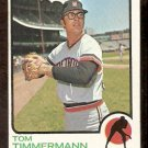 DETROIT TIGERS TOM TIMMERMANN 1973 TOPPS # 413 G/VG