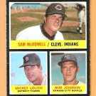 STRIKEOUT LEADERS INDIANS TIGERS ROYALS 1971 TOPPS # 71 VG MC