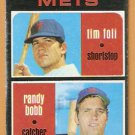 NEW YORK METS ROOKIE STARS TIM FOLI RANDY BOBB 1971 TOPPS # 83 G/VG