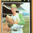 OAKLAND ATHLETICS MARCEL LACHEMANN ROOKIE CARD RC 1971 TOPPS # 84 G/VG