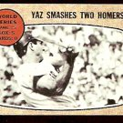 BOSTON RED SOX CARL YASTRZEMSKI YAZ SMASHES 2 HOME RUNS 1967 WORLD SERIES 1968 TOPPS # 152 good