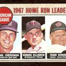 HOME RUN LEADERS BOSTON RED SOX YASTRZEMSKI YAZ TWINS KILLEBREW SENATORS HOWARD 1968 TOPPS # 6 G/VG