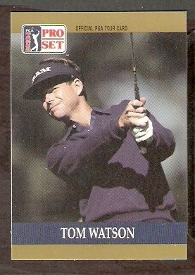 TOM WATSON 1990 PRO SET PGA TOUR CARD # 4