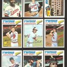 1977 TOPPS MINNESOTA TWINS  TEAM LOT 19 BUTCH WYNEGAR LARRY HISLE LYMAN BOSTOCK +