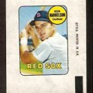 BOSTON RED SOX KEN HARRELSON 1969 TOPPS DECAL NR MT