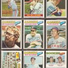 1977 TOPPS TEXAS RANGERS TEAM LOT 25 GAYLORD PERRY BLYLEVEN HARGROVE SUNDBERG ++