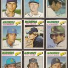 1977 TOPPS SEATTLE MARINERS  TEAM LOT 19 DIFFERENT INAUGURAL YEAR