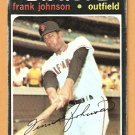 SAN FRANCISCO GIANTS FRANK JOHNSON 1971 TOPPS # 128 good