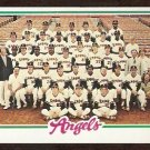 CALIFORNIA ANGELS TEAM CARD 1978 TOPPS # 214 EX marked cl