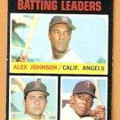BATTING LEADERS CALIFORNIA ANGELS RED SOX CARL YASTRZEMSKI YAZ TWINS TONY OLIVA 1971 TOPPS # 61 EM
