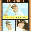 RBI LEADERS WASHINGTON SENATORS RED SOX TONY CONIGLIARO ORIOLES BOOG POWELL 1971 TOPPS # 63 EX MT