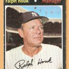NEW YORK YANKEES RALPH HOUK 1971 TOPPS # 146 VG