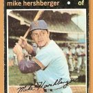 MILWAUKEE BREWERS MIKE HERSHBERGER 1971 TOPPS # 149 good