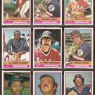 1976 TOPPS CLEVELAND INDIANS TEAM LOT {13} BOOG POWELL BUDDY BELL CARTY HENDRICK ++