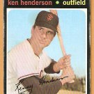 SAN FRANCISCO GIANTS KEN HENDERSON 1971 TOPPS # 155 good