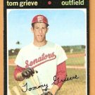 WASHINGTON SENATORS TOM GRIEVE 1971 TOPPS # 167 VG