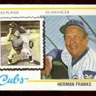 CHICAGO CUBS HERMAN FRANKS 1978 TOPPS # 234 EX