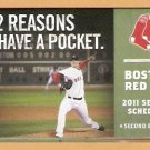 BOSTON RED SOX 2011 POCKET SCHEDULE JON LESTER