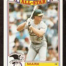 OAKLAND ATHLETICS MARK McGWIRE 1989 TOPPS ALL STAR GLOSSY # 2